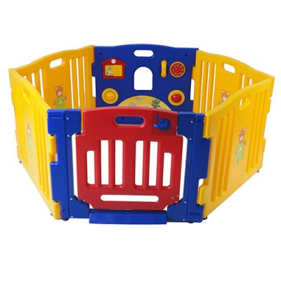 6 sided plastic baby playpen