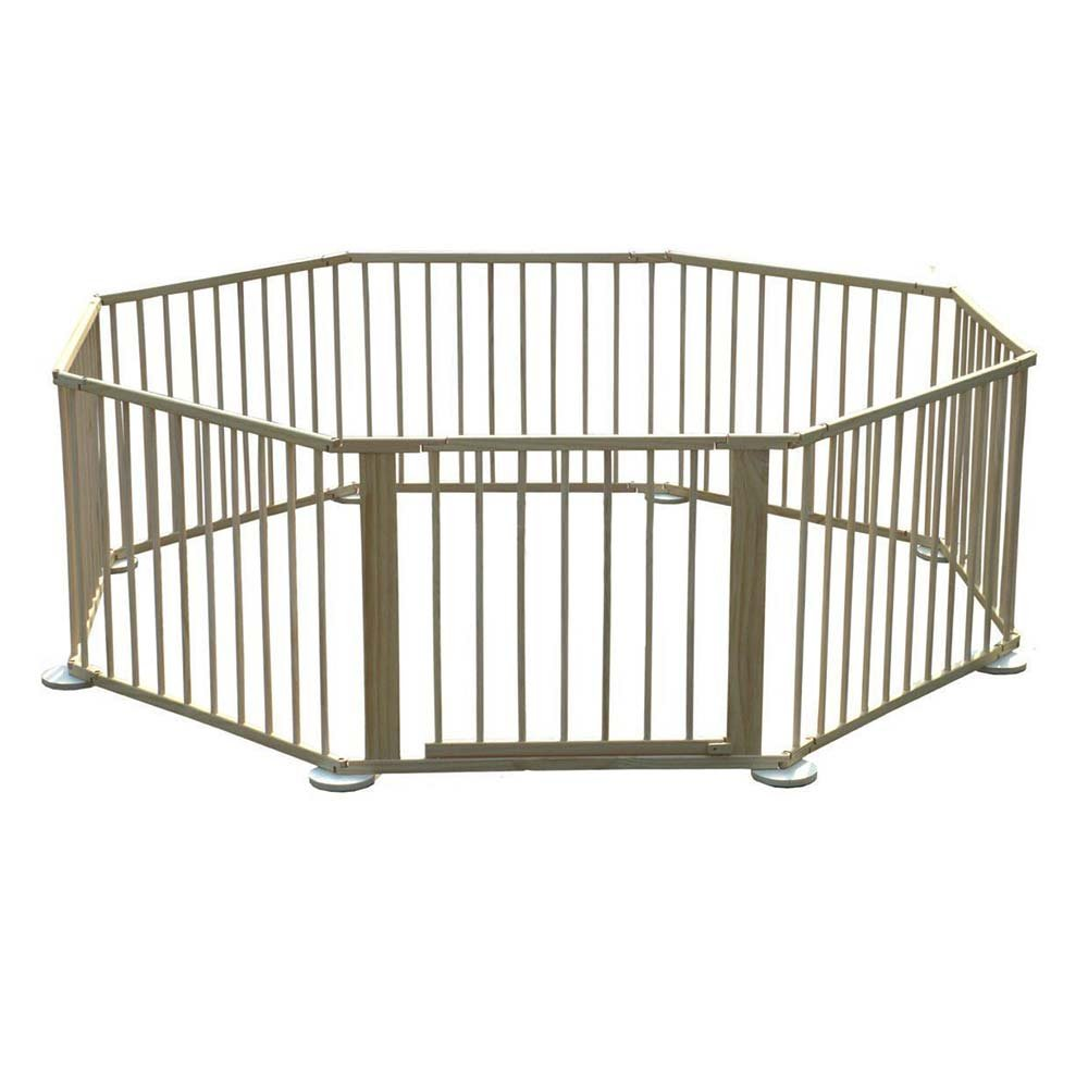 Wooden 8 Side Baby Foldable Playpen Play Pen Room Divider