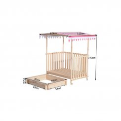 343-008 covered wooden sandpit