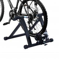 black exercise bike trainer