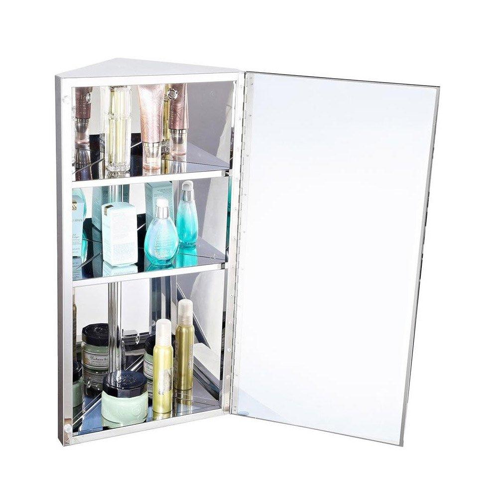 Stainless Steel Bathroom Corner Mirror