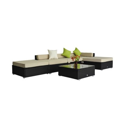 6pcs outdoor rattan furniture set
