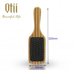 Bamboo Paddle Hair Brush with Wire Pin 2-size
