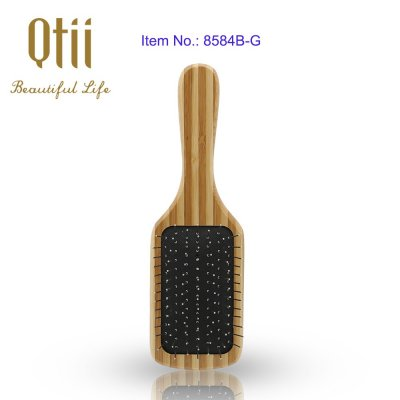 Bamboo Paddle Hair Brush with Wire Pin 1- item
