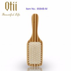 Natural Bamboo Hair Brush with Wooden Pin 8584B-M