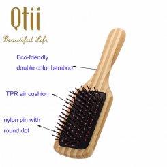 Bamboo Peddle Hair Brush 8584B-N-3
