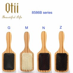 Bamboo Hair Brush with Bristle 8586B-7