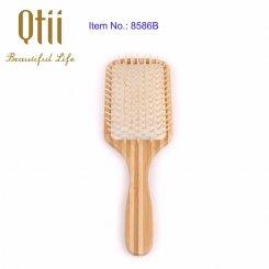 Bamboo Hair Brush with Bristle 8586B-1