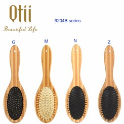 Oval Bamboo Brush with Wooden Pin 9204B-1