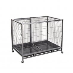 5663-3001 metal dog cage with wheels