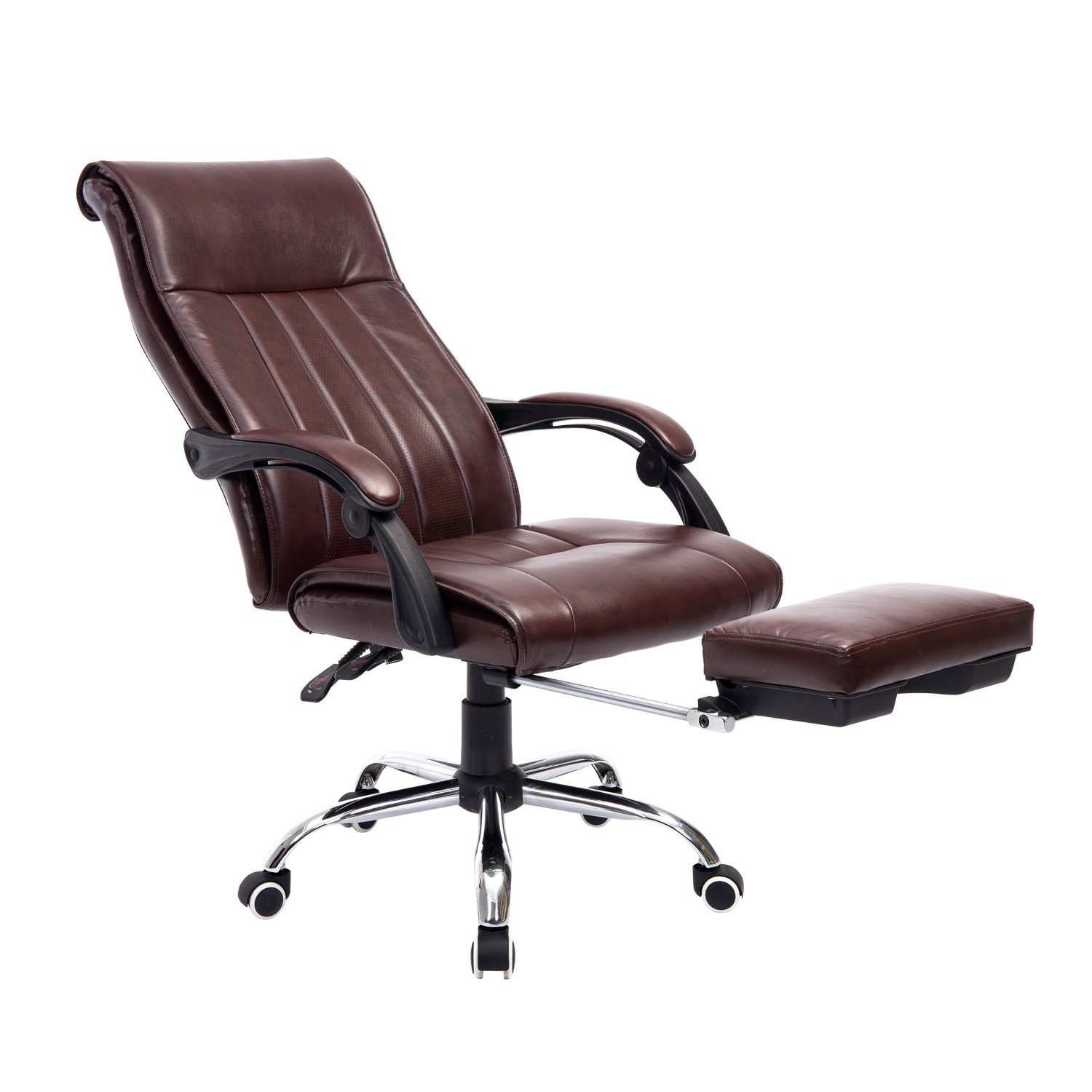 Modern Reclining Adjustable Swivel Office Chair with Footrest