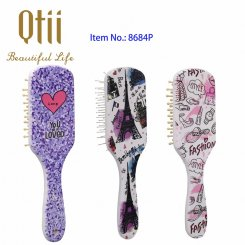 Valentine's Printing Paddle Plastic Detangling Hair Brush with Air Cushion 8584P-1