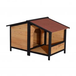 D02-010 wooden dog house with roof