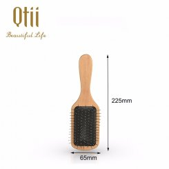 Paddle Detangling Wooden Hair Brush with Wire Pin  G-2