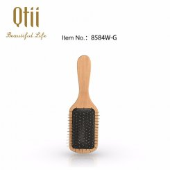 Paddle Detangling Wooden Hair Brush with Wire Pin G-1
