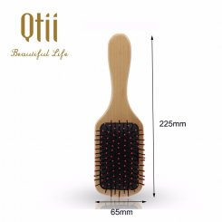 Paddle Wooden Hair Brush with Nylon Pin  2-size