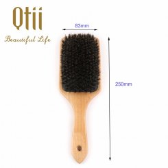 Wooden Hair Brush with Boar Bristle 8586M-Z-2