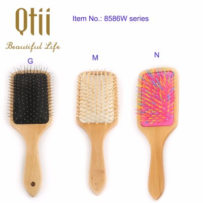 Paddle Detangling Wooden Hair Brush  8586-group