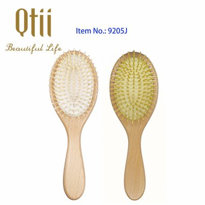 Oval Beech Wood Hair Brush 9205J-1