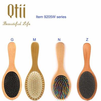 Oval Shape Wooden Hair Brush 9205W-1