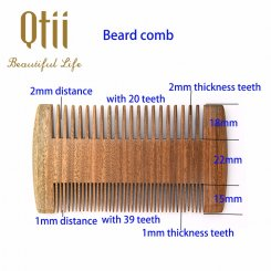 Natural Sandalwood Beard Comb MB-003-2