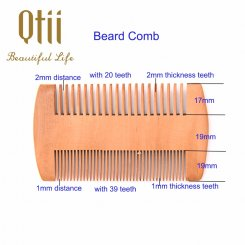 Natural Pear Wood Beard Comb MB-004-2