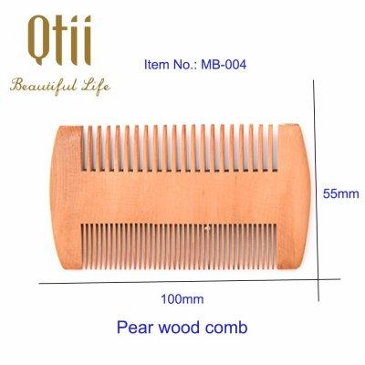 Natural Pear Wood Beard Comb MB-004-1
