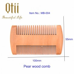 Natural Pear Wood Beard Comb MB-004-1