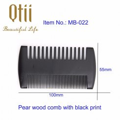 Black Pear Wood Beard Comb MB-022-1