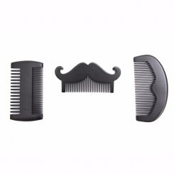 Natural Beard Shape Pear Wood Beard Comb MB-024 group