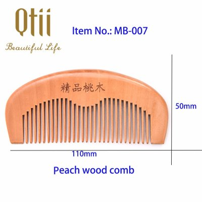 Pure Peach Wood Large Teeth Comb MB-007-1