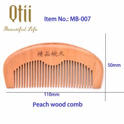 Pure Peach Wood Large Teeth Comb MB-007-1