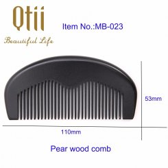 Natural Black Color Pear Wood Hair Comb MB-023-1