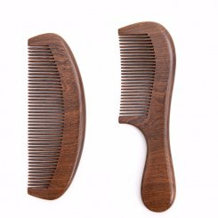 Handmade Natural Black Gold Sandalwood Hair Comb with Holding Handle MB-026 group