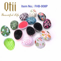 Egg Shape Soft Styling Hair Brush with Printing or Plating FHB-008P-1