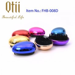 Egg Shape Soft Styling Hair Brush with Printing or Plating FHB-008D-1