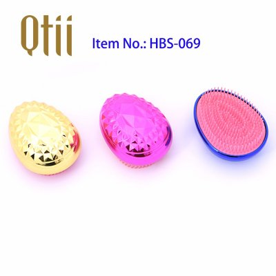 Egg Shape Soft Styling Hair Brush with Plating and Spiny FBS-069-1