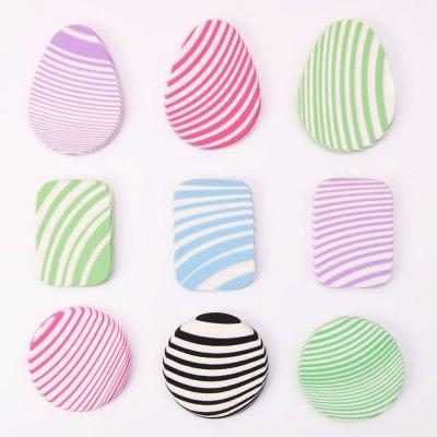 High Density Stripes Zebra Cosmetic Sponge Powder Puff SBR with Grinding Edge