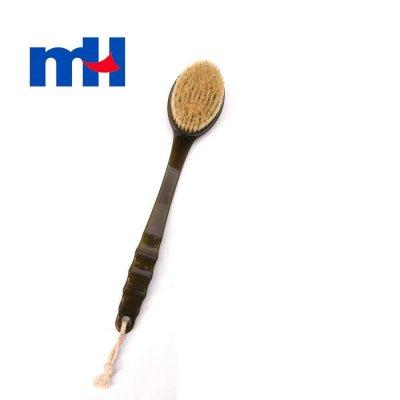 Natural Boar Bristles Plastic Long Handle Bath Brush, Back Massager Body Brush for Wet or Dry Brushing, 37*7cm