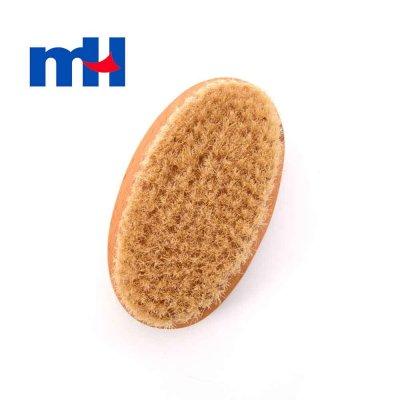 Natural Boar Bristles Wood Brush for Bath, Wet or Dry Brushing, Body Brush for Exfoliation, Cellulite Treatment, 12.57cm-1