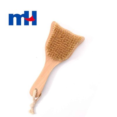 Natural Boar Bristles Wood Short Handle Brush for Bath, or Dry Brushing, Body Brush for Exfoliation, Cellulite Treatment, 2110cm-1