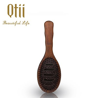 Ergonomic Oval Wooden Bursh with  Carved Air Cushion-9205l