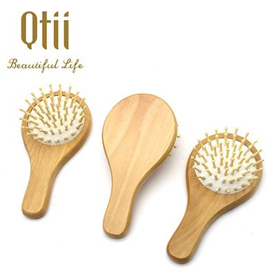 Round Kids Mini Wooden Hair Brush-fhb-015-w